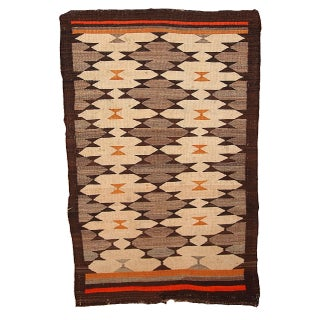 1880s Hand Made Antique American-Indian Navajo Rug - 3.1' X 4.10'