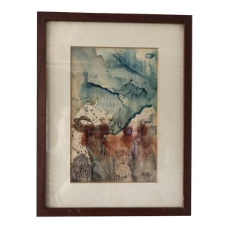 Original Abstract Contemporary Watercolor Painting