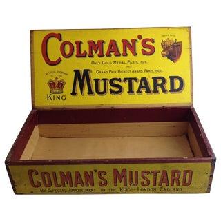 Vintage Colmans Mustard Advertising Delivery Box