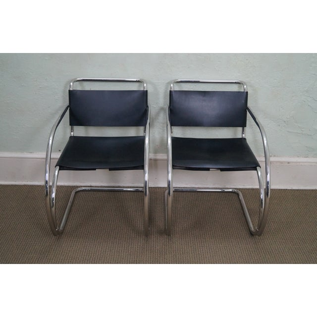 Knoll Ludwig Mies Van Der Rohe Chairs - Pair - Image 2 of 10