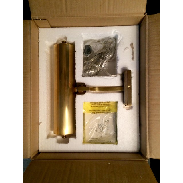 Alexa Hampton Dean Brass Picture Lights - A Pair - Image 6 of 6