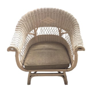 Vintage 1970 Wicker Arm Chair