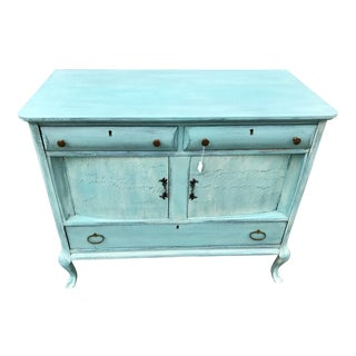 Antique French Provincial Blue Buffet