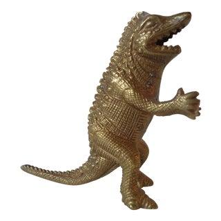 Mid-Century Brass Standing Lizard