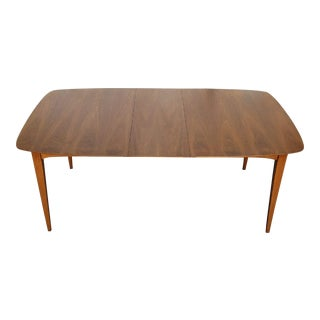 1960's Walnut Dining Table With 2 Leaves