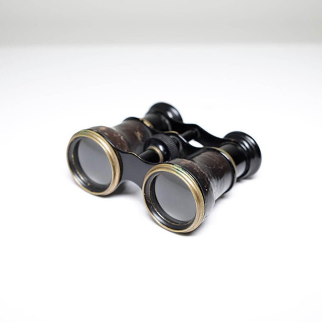 19th Century French Leather Wrapped Opera Glasses - Image 3 of 6