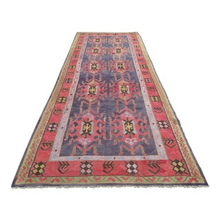 Vintage Large Turkish Kilim Rug - 6′3″ × 16′2″