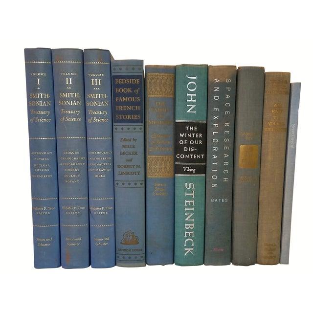 Decorative Blue Books - Set of 10 - Image 2 of 3