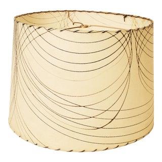 Mid-Century Modern Beige Fiberglass Lamp Shade