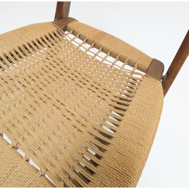 Image of Vintage Danish Modern Rope Folding Chair