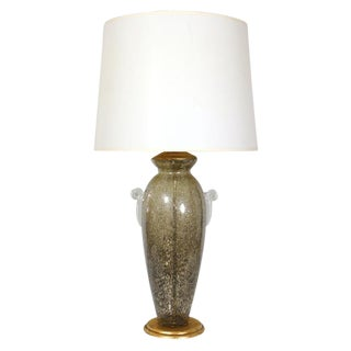 Murano Glass Lamp in Bronze