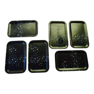 Modernist Atomic Retro Starburst Trays - 6
