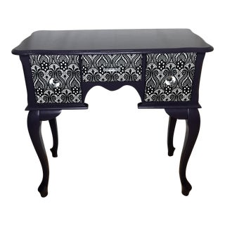 Victorian Purple and Lace Side Table