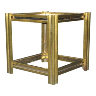 Double Level Brass and Nickel End Table / Nightstand