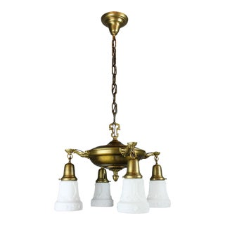 Antique Pan Light Fixture (4-Light)