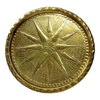 Solid Brass Hammered Star Plaque
