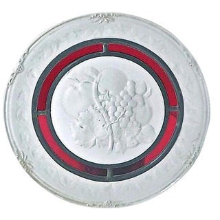 Fruit Relief Porcelain & Stained Glass Plate