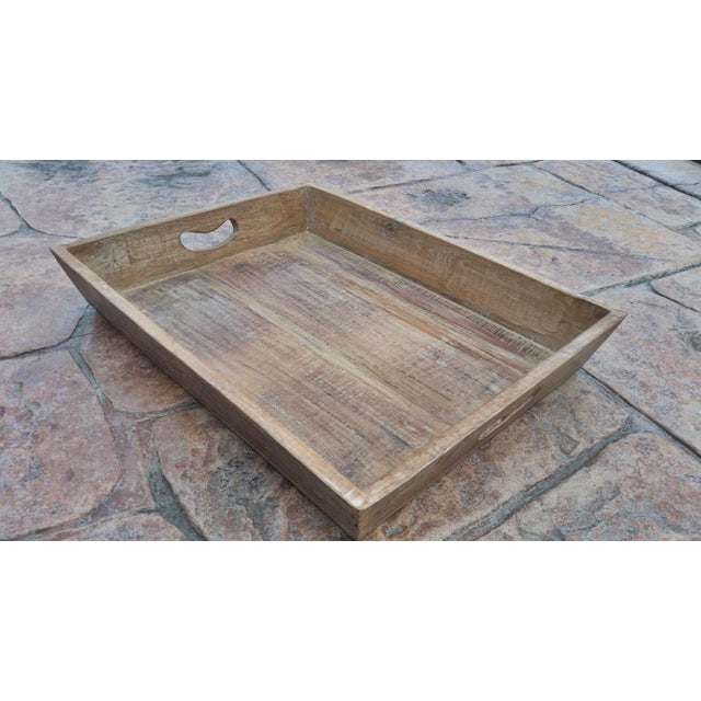 Reclaimed Wood Primitive Style Large Serving Tray - Image 2 of 5