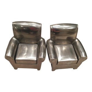 Pottery Barn Silver Chair Bookends - Pair