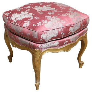 French Louis XV Style Tabouret with a Gold Leaf Finish