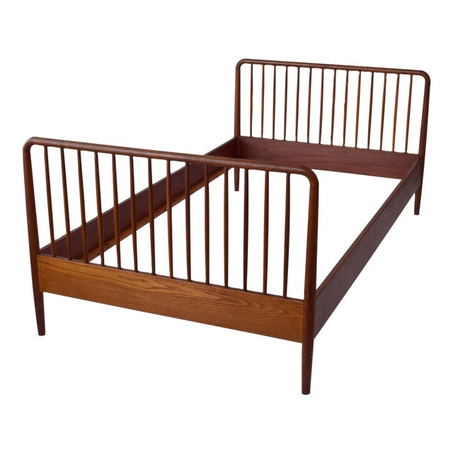 Image of 1960s Danish Teak Twin Bed - Pair Available