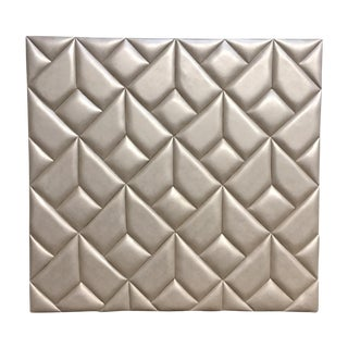 Geometric Metallic Leather Upholstered Headboard