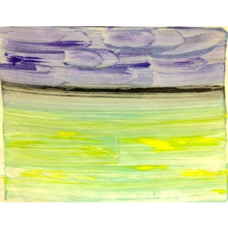 """Purple Night"" Handmade Ocean Print, 2016"