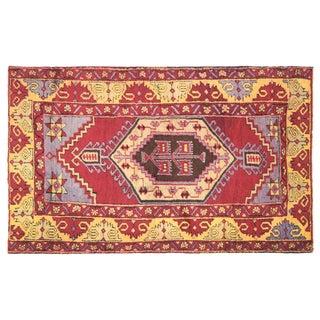 "Vintage Turkish Oushak Rug, 3'2"" x 5'4"""