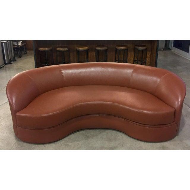 Vladimir Kagan Biomorphic Kidney Bean Shaped Sofa - Image 8 of 9