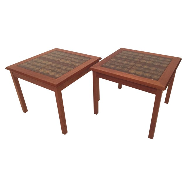Toften Tile Top Side Tables - A Pair - Image 1 of 7