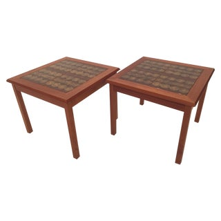 Toften Tile Top Side Tables - A Pair