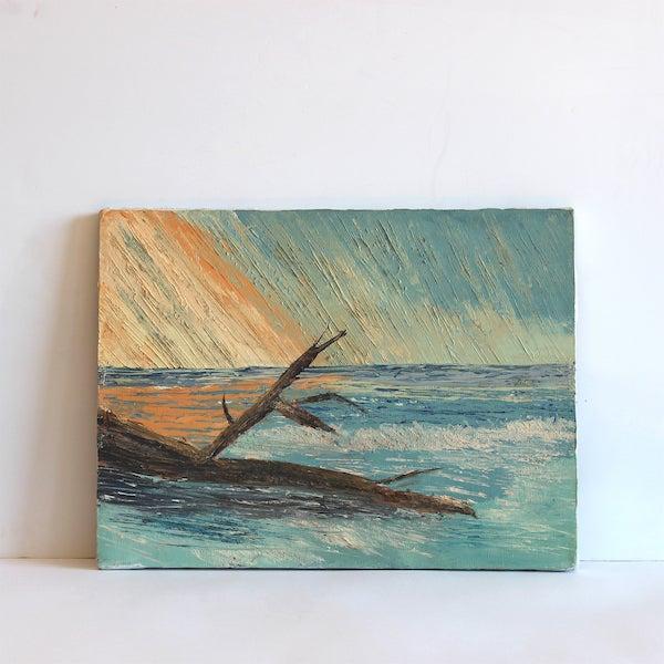 Vintage Seascape Painting - Image 2 of 5