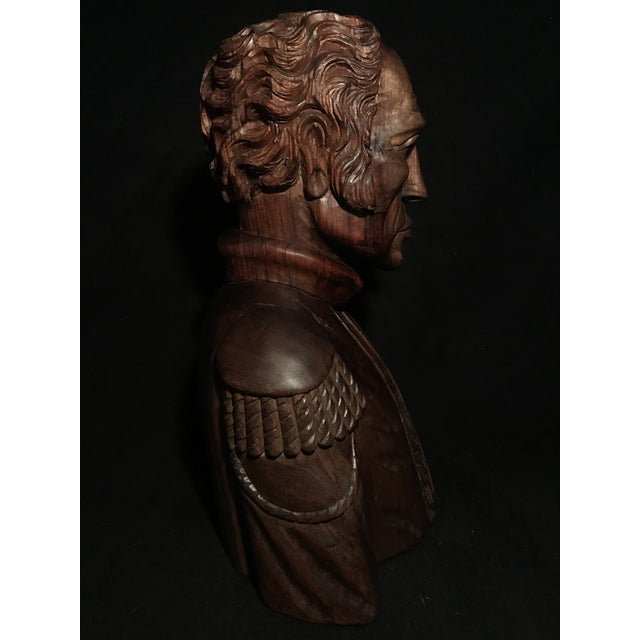 Circa 1970 Carved Wood Statue - Image 11 of 11