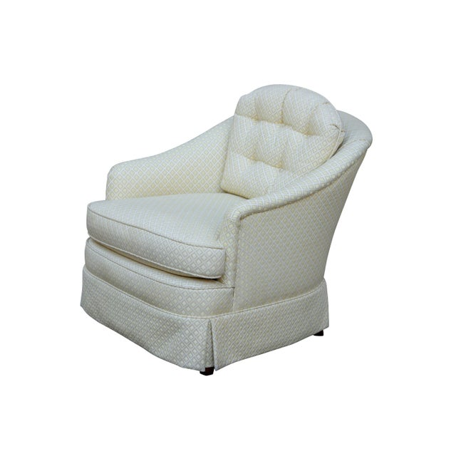Mid Century Style Cream Club Chairs, A Pair - Image 2 of 9