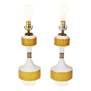 Mid-Century Ceramic Table Lamps - a Pair