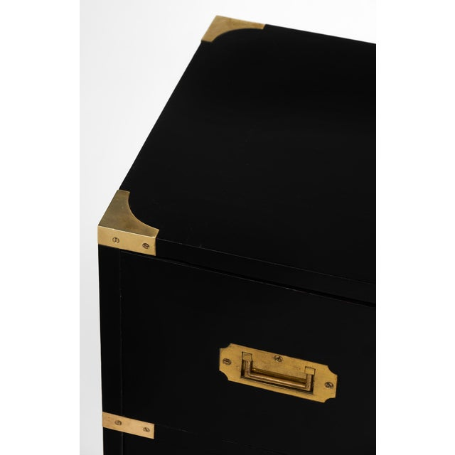 English Campaign Style Secretary Chest - Image 9 of 11