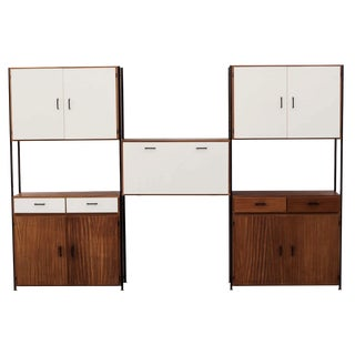 Poul Cadovius-Style 3-Section Wall Unit