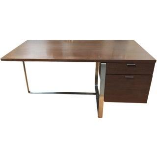 Vintage used brown desks chairish for Design within reach desk