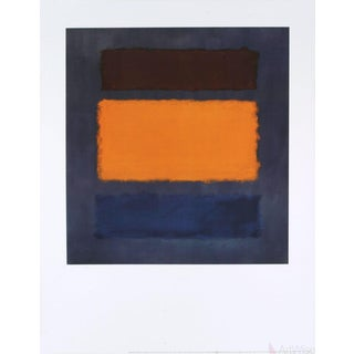 Mark Rothko Untitled, Brown and Orange on Maroon Poster