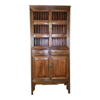 Antique Chinese Kitchen or Linen Cabinet