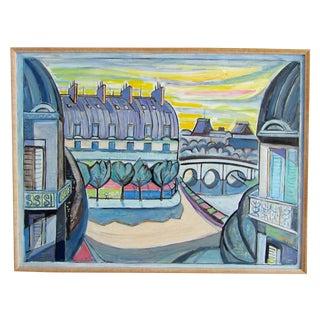Vintage Paris Original Oil Painting