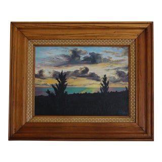 John De Ponce Hawaiian Sunset Landscape Painting