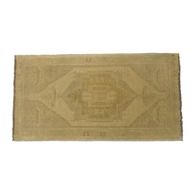 Image of Vintage Turkish Oushak Rug - 1'7'' X 3'