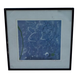 Mid-Century Abstract Serigraph Print