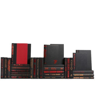 Modern Black and Red Accented Books, S/30