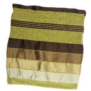 Striped Green & Brown Safi Pillow Cases - A Pair