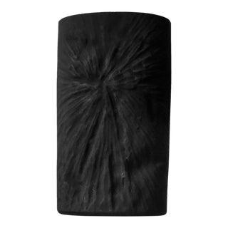 Matte Black Brutalist Glass Vase