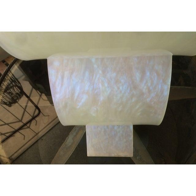 Art Deco Pearlized White Lucite 2 Tier Shelf - Image 6 of 8