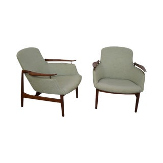 Finn Juhl NV-53 Lounge Chairs - A Pair