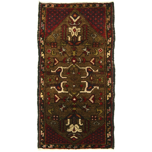Image of Vintage Turkish Anatolian Yastik Rug - 1'7 x 3'